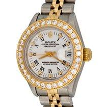 Rolex Lady-Datejust Acier 25mm Blanc Romains