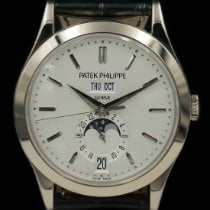 Patek Philippe White gold Automatic 38mm pre-owned Annual Calendar