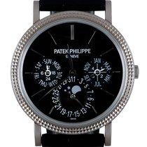 Patek Philippe Perpetual Calendar Or blanc 38mm Noir