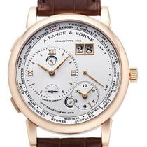 A. Lange & Söhne Red gold Manual winding Silver (solid) Roman numerals 42mm new Lange 1