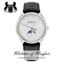 Jaeger-LeCoultre Master Ultra Thin Moon Stahl 40mm Silber