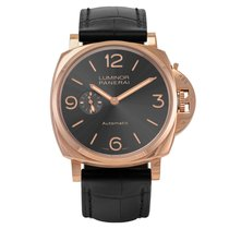 Panerai Red gold Automatic Grey 45mm new Luminor Due