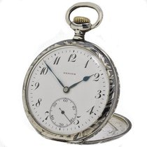 Zenith Silver Manual winding White Arabic numerals 50mm pre-owned