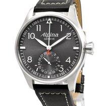 Alpina Startimer Pilot Manufacture Stahl 44mm Grau