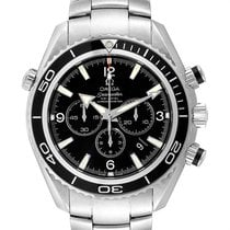 Omega Seamaster Planet Ocean Chronograph pre-owned 45mm Black Chronograph Date Steel