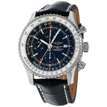 Breitling Navitimer World Steel 46mm Black No numerals United States of America, New York, Greenvale