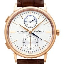 A. Lange & Söhne Red gold Manual winding Silver (solid) Arabic numerals 38,5mm new Saxonia