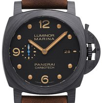 Panerai Carbon Automatik Schwarz 44mm neu Luminor Marina 1950 3 Days Automatic