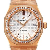 Audemars Piguet Red gold Automatic Silver No numerals 37mm new Royal Oak Lady