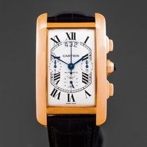 Cartier Tank Américaine Rose gold 32 mm case excluding crownmm Silver Roman numerals