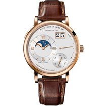 A. Lange & Söhne Red gold Manual winding Silver Roman numerals 41mm new Grand Lange 1