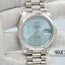 Rolex Day-Date 40 Platinum 40mm Blue United States of America, New York, New York