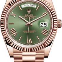 Rolex Day-Date 40 Red gold 40mm Green Roman numerals United States of America, California, Newport Beach, Orange County