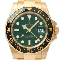 Rolex Yellow gold Automatic Green No numerals 40mm pre-owned GMT-Master II