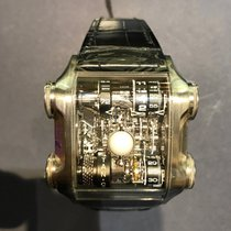 Cabestan Platinum 46.5mm Manual winding Luna Nera Titanium new