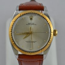 Rolex Oyster Perpetual 34 Gold/Steel 34mm Silver