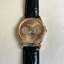 Patek Philippe Rose gold Automatic Brown No numerals 37mm new Perpetual Calendar
