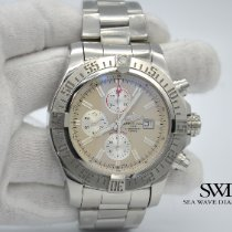 Breitling Super Avenger II pre-owned 48mm Silver Chronograph Date Steel