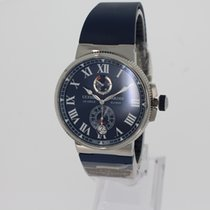 Ulysse Nardin Marine Chronometer Manufacture Steel 45mm Blue Roman numerals
