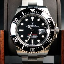 Rolex Sea-Dweller Stahl 43mm Schwarz Keine Ziffern