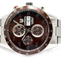 TAG Heuer Carrera Calibre 16 gebraucht 43mm Braun Chronograph Datum Wochentagsanzeige Stahl
