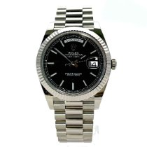 Rolex Day-Date 40 White gold 40mm Black No numerals
