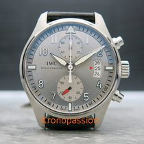 IWC Pilot Spitfire Chronograph Steel 43mm Silver Arabic numerals United States of America, Florida, Boca Raton