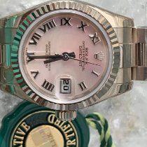 Rolex Lady-Datejust Белое золото 26mm Перламутровый Римские