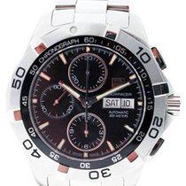 TAG Heuer Aquaracer 300M pre-owned 41mm Black Chronograph Steel