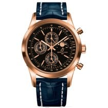 Breitling Transocean Chronograph 1461 Red gold 43mm Black