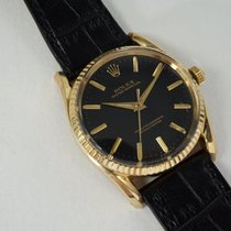 Rolex Oro amarillo 33mm Negro Sin cifras