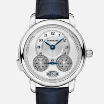 Montblanc Nicolas Rieussec Steel 43mm White No numerals