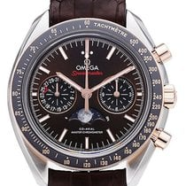 Omega Speedmaster Professional Moonwatch Moonphase Gold/Steel 44,25mm Brown No numerals
