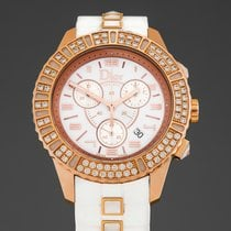 Dior Christal Pозовое золото 38mm Белый Aрабские