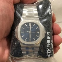 Patek Philippe Platinum Automatic Blue No numerals new Nautilus