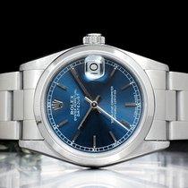 Rolex Lady-Datejust Сталь 31mm Синий Римские