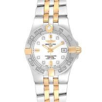 Breitling Galactic 30 pre-owned 30mm White Date Gold/Steel