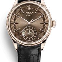 Rolex Cellini Dual Time Oro rosa 39mm Marrone Senza numeri Italia, L'Aquila