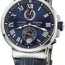 雅典 Marine Chronometer Manufacture 1183-126-7M/43 Ulysse Nardin Marino Acciaio Blu Cronometro 2020 全新