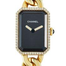 Chanel Première Or jaune 22mm Noir