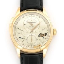Jaeger-LeCoultre Master Grande Tradition pre-owned Champagne Minute repeater Weekday Year Crocodile skin