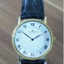 Baume & Mercier Yellow gold Quartz Silver Roman numerals 32mm pre-owned Classima