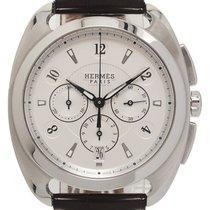 Hermès Dressage Steel 40mm Silver