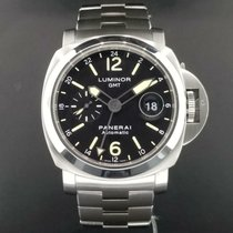 Panerai Luminor GMT Automatic pre-owned 44mm Black Date GMT Steel