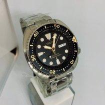 Seiko Prospex Steel 45mm Black No numerals