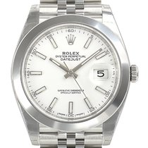 Rolex Datejust Acero 41mm Blanco Sin cifras