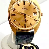 Omega Yellow gold Automatic Gold No numerals 34mm pre-owned Genève