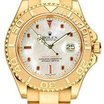 Rolex Yacht-Master Желтое золото 40mm Перламутровый