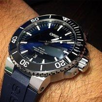 Oris Aquis Date 01 733 7730 4135-07 4 24 65EB Oris Aquis Date Quadrante Blu 43,5mm Cinturino Gomma Blu 2020 new