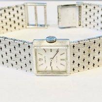 Rolex Oyster Precision White gold 15mm Silver No numerals